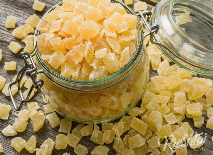 Džiovinti ananasų kubeliai 1kg