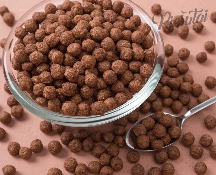 Dribsniai šokoladiniai rutuliukai 0.5kg