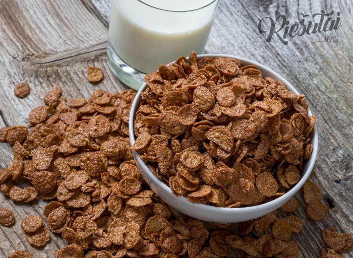 Kukurūzų dribsniai šokolado skonio 0.5kg