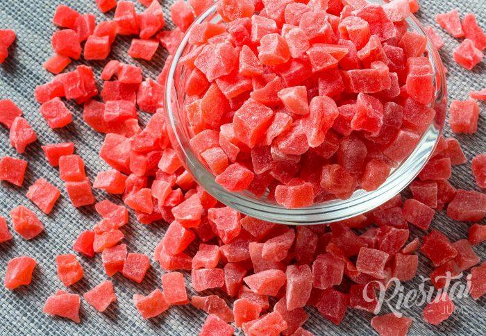 Džiovintų papajų kubeliai 1kg