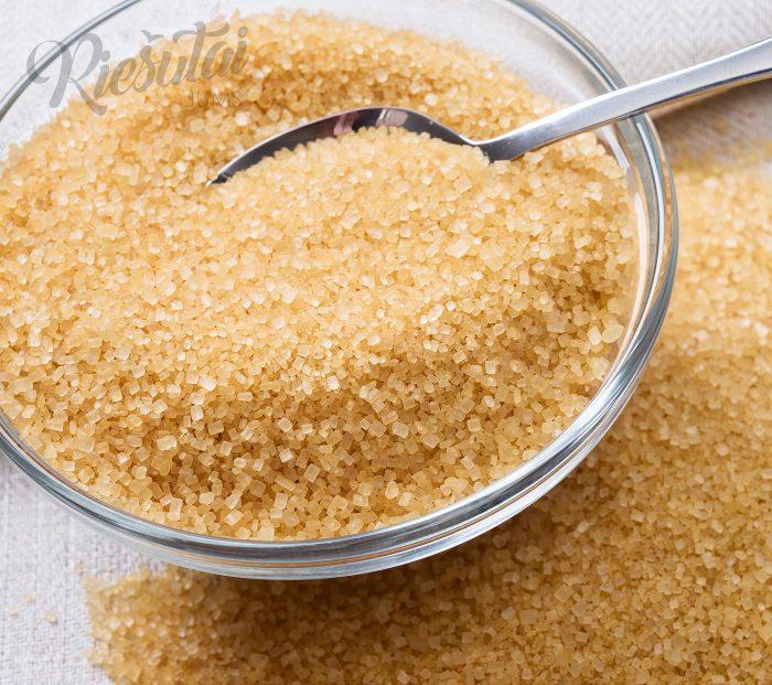 Natūralus nerafinuotas rudas cukranendrių cukrus Demerara 1kg