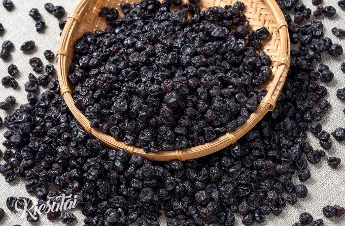 Džiovinti juodieji serbentai cukruoti 1kg